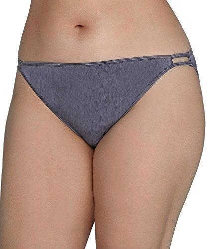 Vanity Fair Women's Illumination Plus Size Bikini Panty 18810, Steel Violet, 3X-Large/10