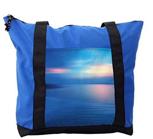 Lunarable Landscape Shoulder Bag, Panoramic Ocean Scene, Durable with Zipper by Lunarable