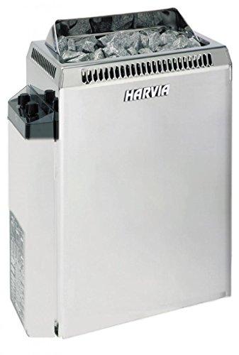 Harvia Topclass Saunaofen - KV80 8,0 kW mit integrierten Steuergerät, Edelstahl