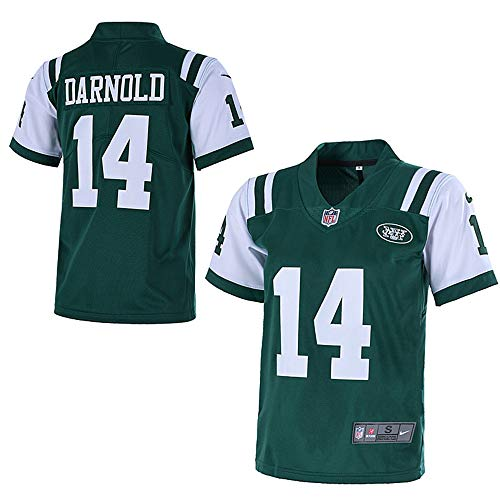 -  Outerstuff Youth New York Jets #14 Sam Darnold 2018 NFL Game Jersey for Kids– Green (YTH Medium)