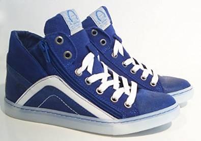 Reißverschluss Bullboxer azur blau Leder Sneaker Halbschuhe RqYwtFa