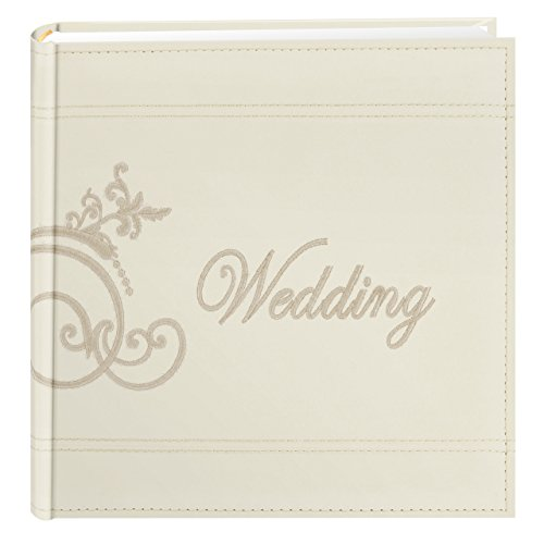 Pioneer Embroidered Scroll and Wedding Sewn Leatherette Cover Photo Album
