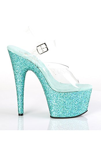 Femme Teal 708lg Ouvert Pleaser Glitter Adore Multi Clr Bout vaAqy7R1H