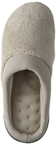 Isotoner Frauen Classic Microterry Hoodback Hausschuhe Stein