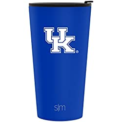 Simple Modern 16oz Pint Tumbler - Kentucky Wildcats Vacuum Insulated 18/8 Stainless Steel Tailgating Cup Travel Mug - Kentucky