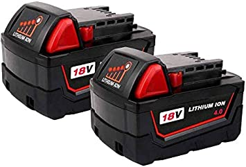 Replacement Battery M18 2 Pack for Milwaukee Red Lithium XC M18 48 11 1815