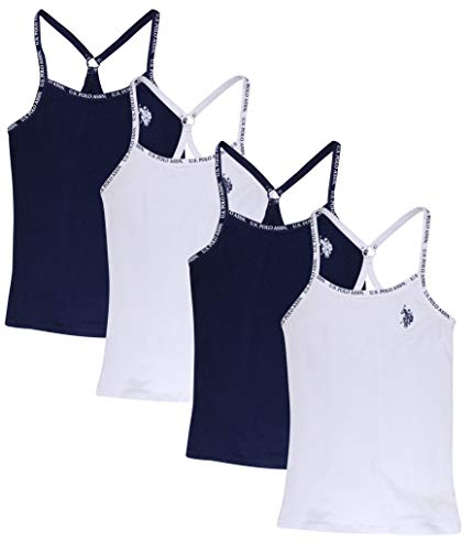 U.S. Polo Assn. Girls' Racerback Camisole Undershirt (4 Pack), White, Size Small' (Polo Sport Clothing)