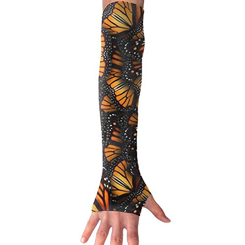 Heaps Of Orange Monarch Butterflies Women's Super Long Fingerless Anti-uv Sun Protection Golf Driving Sports Arm Sun Sleeves -