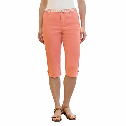 - Gloria Vanderbilt Women's Lillian Belted Skimmer Capri (16W, Bright Hibiscus)