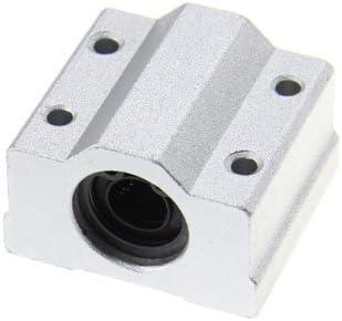 Soporte con rodamiento lineal 8 mm – 2 piezas – Este soporte de aluminio con rodamiento lineal de 8 mm (diámetro interno) y Quattro agujeros Filetes Insertos ((parte), può utilizar usan de