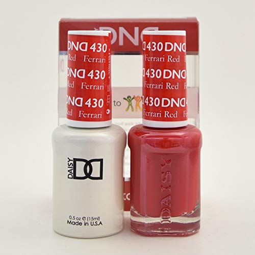 DND Gel & Matching Polish Set #430 - Ferrari Red . Buy 5 any colors get 1 Diamond super fast drying top coat 0.5 oz Free