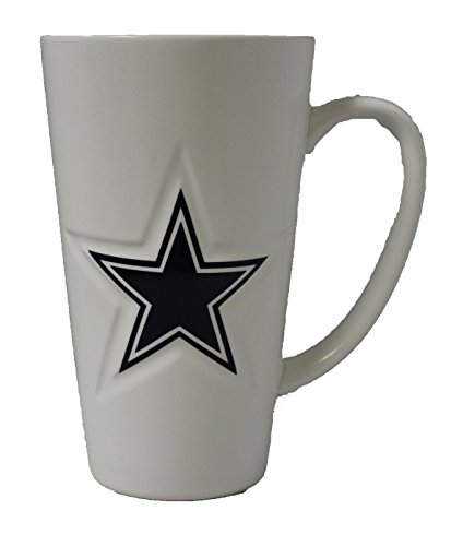 Boelter Dallas Cowboys 16 oz White Ceramic Latte Coffee Mug