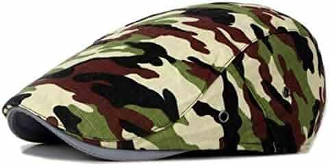 51105ca7 GESDY Military Camo Newsboy Cap Summer Beret Hat Lightweight Ivy Gatsby  Cabbie Driving Hats