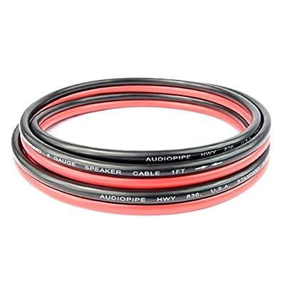 8 Gauge 6 Feet Red Black Speaker Wire Copper Mix Power Ground Car Home Audio: Automotive