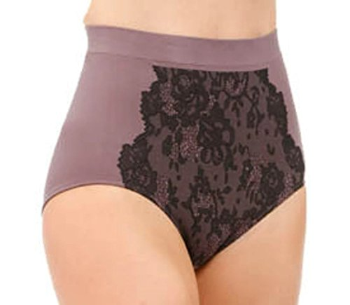Olga's Lacy Intentions Light Shaping 24 hour comfort Brief 23301 (7, Gry/Blk)