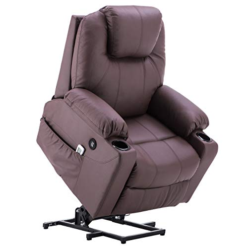 Cheap Mcombo Electric Power Lift Massage Sofa Recliner Heated Chair Lounge w/Remote Control USB Charging Ports, 7045 (Brown)