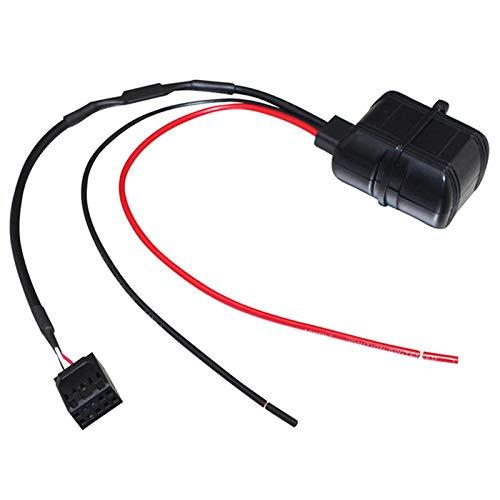SODIAL Modulo De Bluetooth De Coche 12V Aux 10 Pin Cable Aux In Audio Adaptador para BMW E46 3 Series 09//2002 O Mas Reciente Dy164
