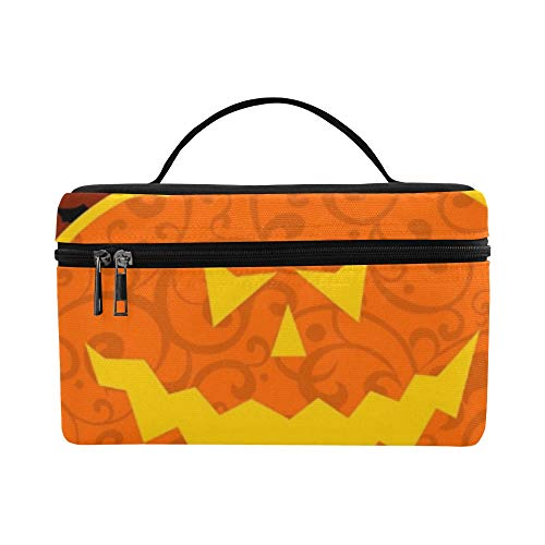 Halloween Pumpkin Lunch Box Tote Bag Lunch Holder Insulated Lunch Cooler Bag For -