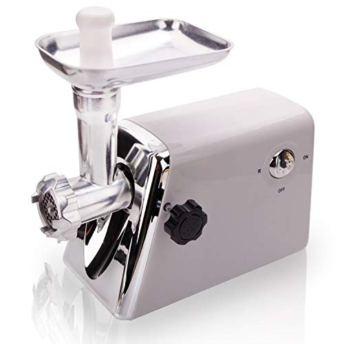 (MOCCO Electric Meat Grinder, 1300 W Heavy Duty Food Grinders Machine with 3 Grinding Plates, Blade, Hopper Plate, Head, Food Pusher, Sausage Horn, Kibbeh Attachment, Stainless Steel Meat Mincer & Sausage Stuffer for Homemade Ground Minced Beef, Kubbe, Meat Patties, Vegetables, Home Use & Commercial, Industrial)