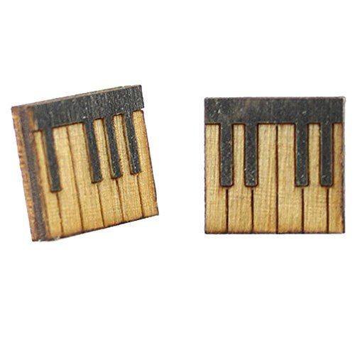 Green Tree Jewelry Piano Key Stud Earrings with Gift Box ()