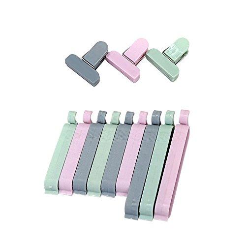 Juego de 12 pinzas de sellado para bolsas de alimentos, varios colores, sellador de pinzas para cocina, juego de clips de...