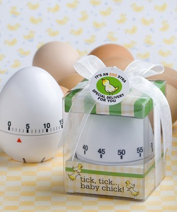 Kitchen Egg Timer Baby Shower ('Egg-stra Special' Egg Timer Baby Shower Favors,)