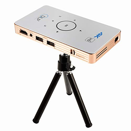 Android Projector, Mini HD Home Phone Projector, 1000 lumens Multimedia LCD Projector, Support USB VGA AV TV Laptop Smartphone ()