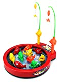 Fishing Game Toy for Kids Bass Beat Battery Operated Rotating Novelty Toy Fishing Game Set with 2 Fishing Rods, Sounds, Music, Brand New in Box