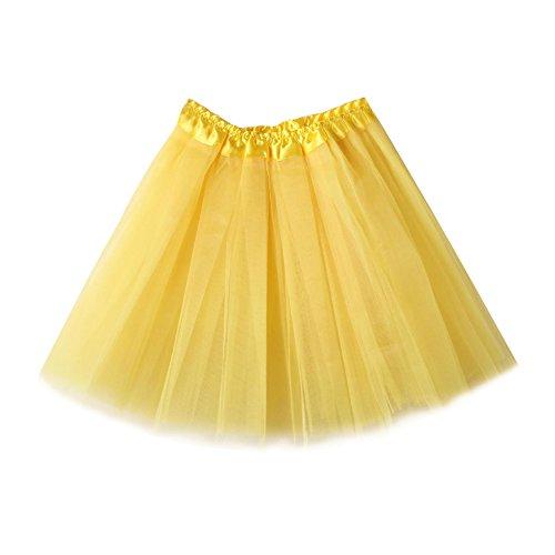 WZY&JYM Women's Mini Tutu Ballet Bubble Tutu with 3 layers Frilly (Diy Tutu Costume)