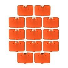 Lot 10 pcs Solid Fire Orange Expansion Pak Lid Cover Nintendo 64 Memory Jumper Expansion N64