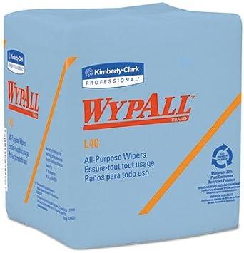 WypAll* L40 1//4-Fold Wiper 12 1//2 x 12 56//Box 12 Boxes//Carton 05776