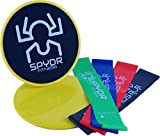 SPYDR FITNESS Premium Resistance bands Core Sliders Storage Bags -Home gym/travel gym-Low impact- Physical therapy-Sport recovery