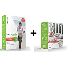 BELLYBUDS, Pregnancy Baby-Bump Headphones & SOUNDBUB, White Noise Machine and Bluetooth Speaker BUNDLE PACK | Ollie the Owl, Gray