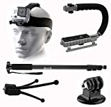14pcs Sports Cam Accessory Bundle Kit for GoPro Hero 4 Action Camera Includes 72