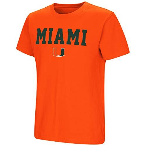 (Colosseum NCAA Youth Boys-Talk The Talk-Cotton T-Shirt-Miami Hurricanes-Orange-Youth)