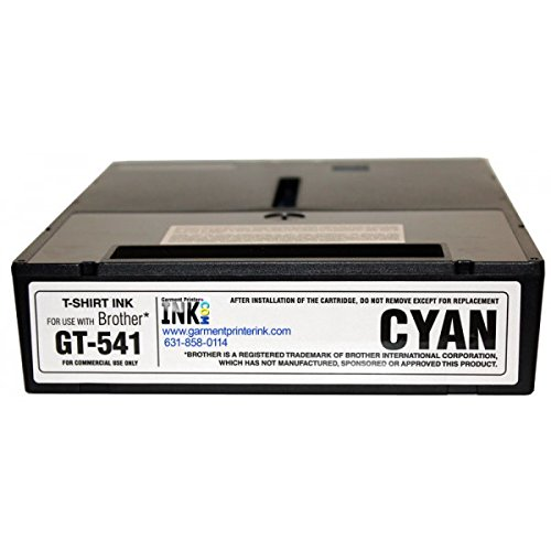 Brother GT-541 / GT-782 250ml DTG Ink Cartridges , Cyan by Garment Printer Ink