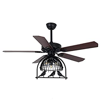 48 inch ceiling fan with light living room modern litfad 48 inch ceiling fan with industrial lights and antique birdcage shade kit3