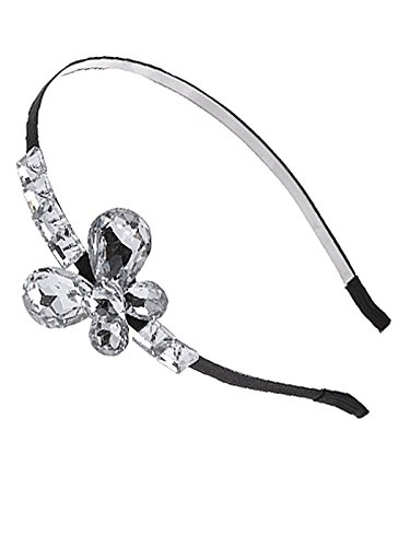 - Alilang Decorative Vintage Diamond Jeweled Rhinestone Butterfly Hair Piece Headband