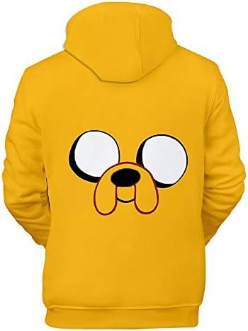 TANGNIU Adventure Time Hoodie 3D Gedruckte Sweatshirt Cartoon Bunte Muster Pullover Männer Und Frauen Paar Erfrischend Atmungsaktiv Lässig Sweatshirt