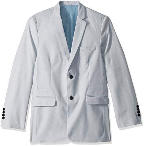 Calvin Klein Big Boys' Twill Blazer Jacket, Misty Rain, 8 ()