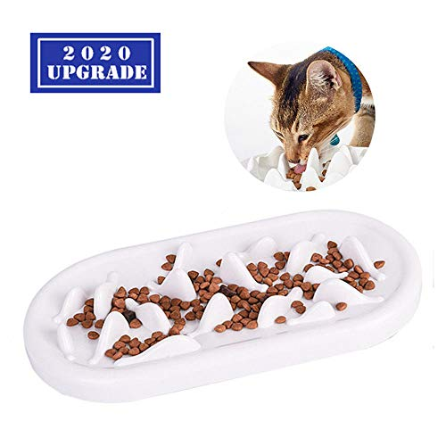 TOPNICES Upgraded Slow Feeder Cat Bowls, Fun Pet Feeder Bowl Stopper,Interactive Bloat Stop Cat Feeder,Durable and Prevents Obesity Improves Digestion Pet Bowl