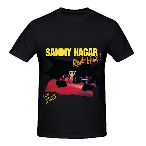 Sammy Hagar Red Hot Funk Mens O Neck Customized Tee Shirts Black
