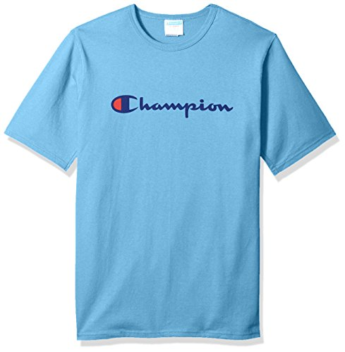 Champion LIFE Men's Heritage Tee, Swiss Blue/Patriotic Champion Script, L ()