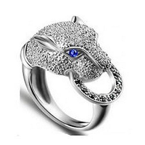Blue Topaz 10kt Ring - YD Jewels - Trendy Leopard head Size 7 Womens Blue Topaz 10KT Gold Filled Wedding Ring