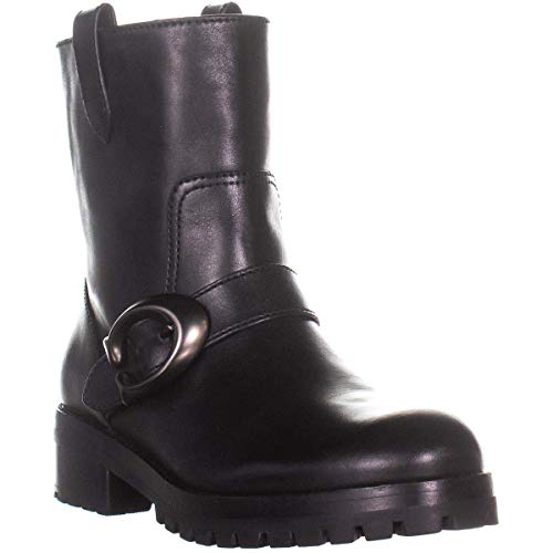 Coach Women's Leighton Bootie with Signature Buckle Black Leather 9 M US