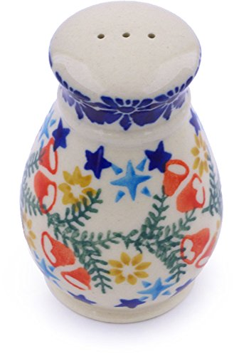 Polish Pottery 3-inch Salt Shaker (Wreath Of Bealls Theme) + Certificate of Authenticity