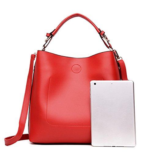 Versión De Japón Y Corea Del Sur Moda Bolsos Bolsos Grandes Capacidad Grande Salvaje Simple Señoras Maletines Bolsos Red
