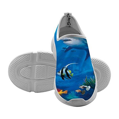 Shark Sea Life Kids Sport Sneakers Slip-On Loafers Original Elastic Shoes