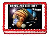 Solar System Personalized Edible Frosting Image 1/2 sheet Cake Topper