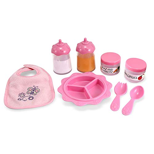 Melissa & Doug Mine to Love Time to Eat Doll Accessories Feeding Set (8 pcs)